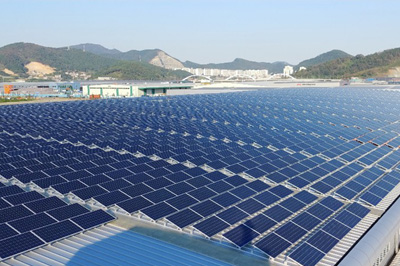 The roof solar system 2.5MW in Yunnan, China